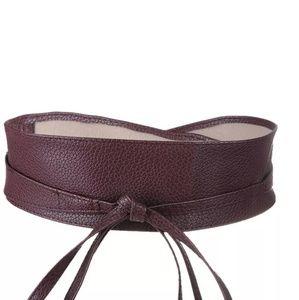 NWT wrap around belt brown